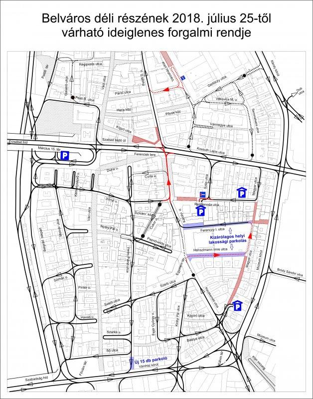 Tájékoztatás a Déli-Belváros megújítása projekt III. ütemének munkálatairól